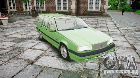 Volvo 850 Turbo 1996 для GTA 4 вид изнутри