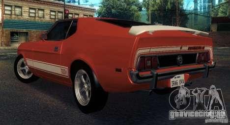 Ford Mustang Mach1 1973 для GTA San Andreas вид справа