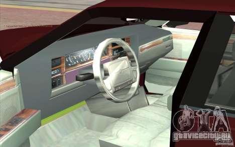 Chrysler Dynasty для GTA San Andreas вид сзади