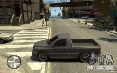 Dodge Ram SRT10 для GTA 4 вид слева