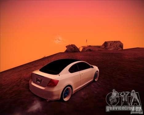 Scion tC Blue Meisters для GTA San Andreas вид изнутри