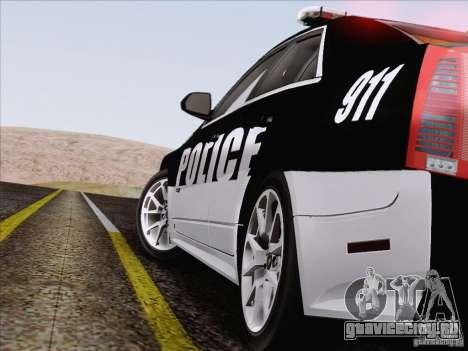 Cadillac CTS-V Police Car для GTA San Andreas вид сверху