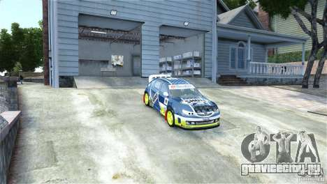 Subaru Impreza WRX STI Rallycross SHOEL Vinyl для GTA 4 вид справа