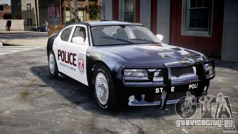 Dodge Charger SRT8 Police Cruiser для GTA 4 вид сверху