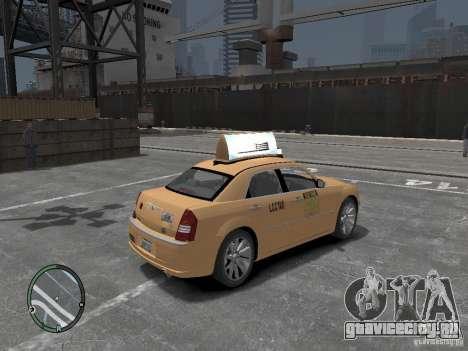 Chrysler 300c Taxi v.2.0 для GTA 4 вид сзади слева