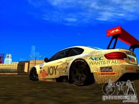 BMW M3 GT ALMS GT2 Series для GTA San Andreas вид сзади