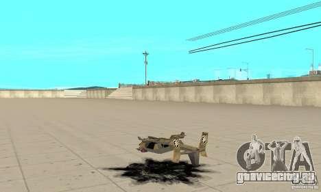 Ястреб для GTA San Andreas вид сзади слева