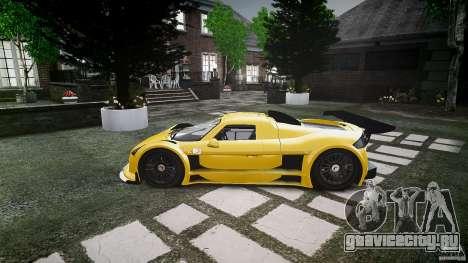 Gumpert Apollo Sport v1 2010 для GTA 4 вид сзади слева