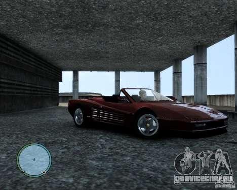 Ferrari Testarossa для GTA 4 вид слева