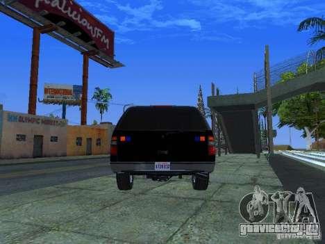Chevrolet Suburban Los Angeles Police для GTA San Andreas вид сзади слева