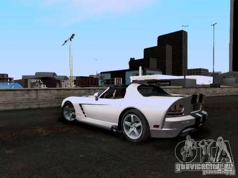 Dodge Viper SRT-10 Custom для GTA San Andreas вид сзади слева