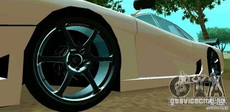 New Turismo для GTA San Andreas вид изнутри