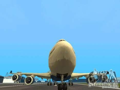 Boeing 747-400 Delta Airlines для GTA San Andreas вид сбоку