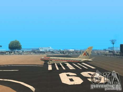 Boeing 757-200 American Airlines для GTA San Andreas вид сзади слева
