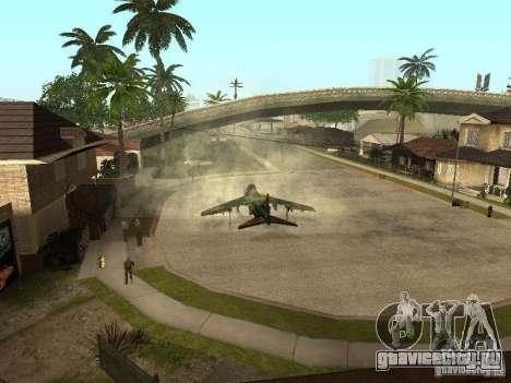 Камуфляж для Hydra для GTA San Andreas вид сзади слева