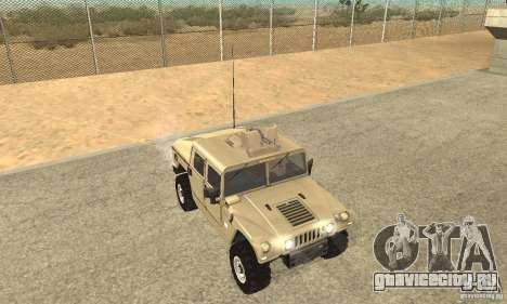 Hummer H1 для GTA San Andreas вид изнутри