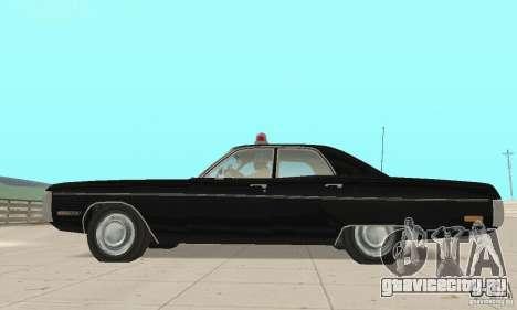 Plymouth Fury III Police для GTA San Andreas вид справа