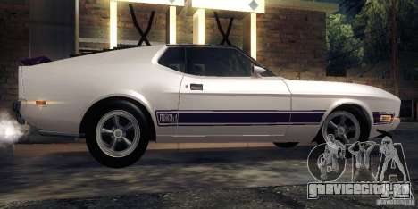 Ford Mustang Mach1 1973 для GTA San Andreas вид сзади слева