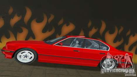 BMW 540i e34 1992 для GTA Vice City вид сзади