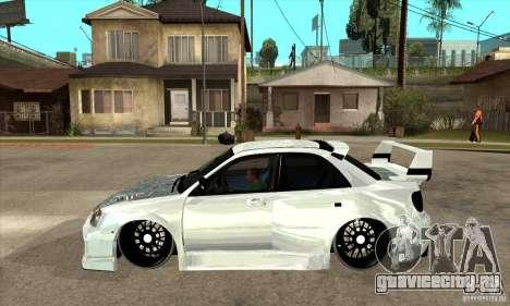 Subaru Impreza Tunned для GTA San Andreas вид слева