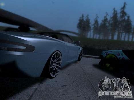 Aston Martin DB9 Volante 2006 для GTA San Andreas вид сзади слева