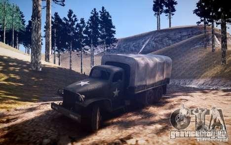 Millitary Truck из Mafia II для GTA 4 вид сзади слева