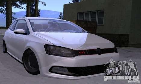 Volkswagen Polo GTI Stanced для GTA San Andreas вид сзади