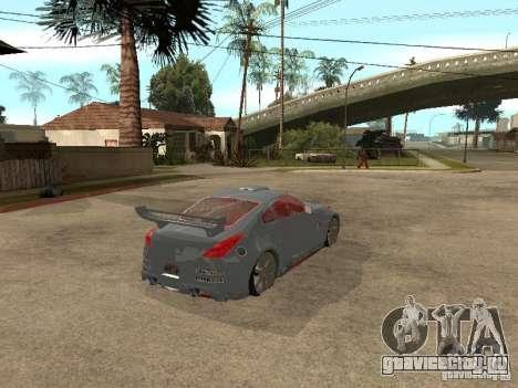 Nissan 350Z Virgo для GTA San Andreas вид сзади слева