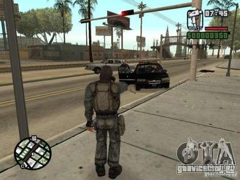 Сталкер наёмник в противогазе для GTA San Andreas пятый скриншот
