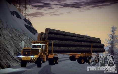 Hayes EQ 142 для GTA San Andreas вид снизу