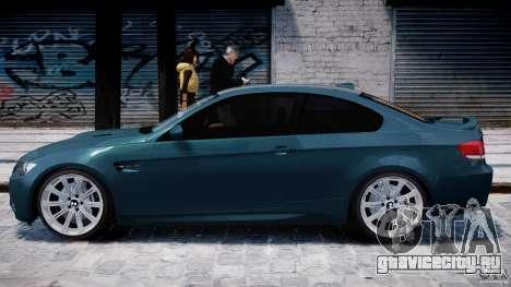 BMW M3 E92 stock для GTA 4 вид сзади слева