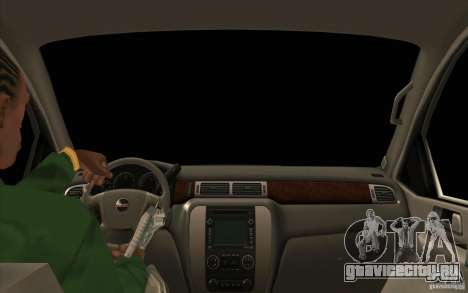 GMC Yukon 2008 для GTA San Andreas вид изнутри
