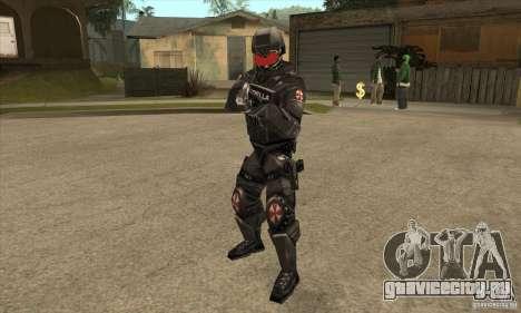 Cпецназовец из Амбреллы для GTA San Andreas второй скриншот