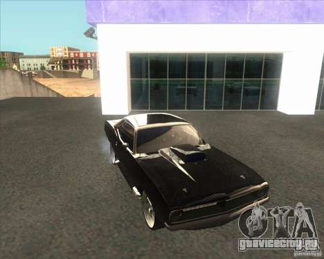 Plymouth Barracuda для GTA San Andreas вид справа