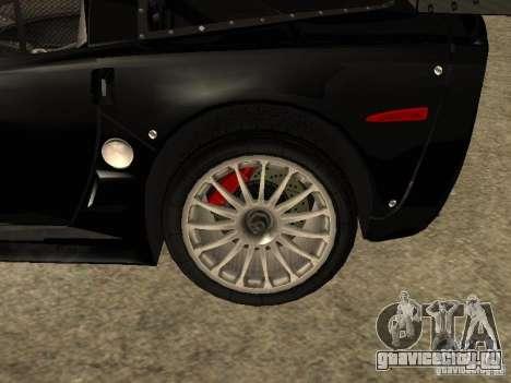 Chevrolet Corvette C6.R для GTA San Andreas вид справа