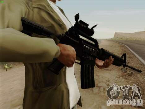 Colt Commando Aimpoint для GTA San Andreas третий скриншот