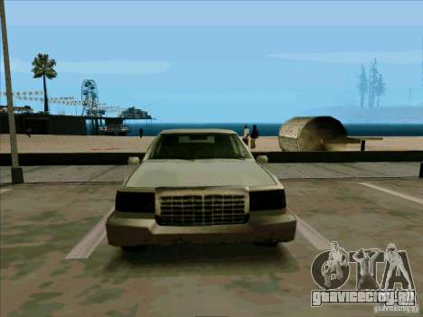 Короткий Лимузин для GTA San Andreas вид изнутри