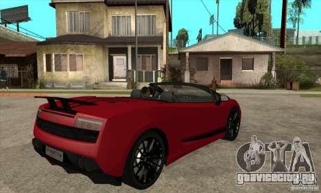 Lamborghini LP570-4 Performante 2011 для GTA San Andreas вид справа