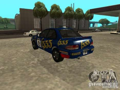 Subaru Impreza WRX STI 1995 для GTA San Andreas колёса