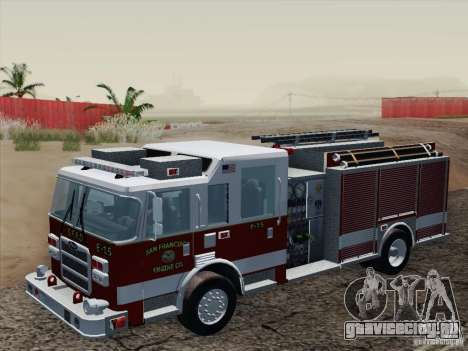 Pierce Pumpers. San Francisco Fire Departament для GTA San Andreas вид изнутри