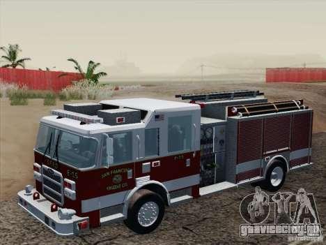 Pierce Pumpers. San Francisco Fire Departament для GTA San Andreas вид изнутри
