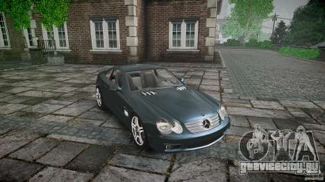 Mercedes Benz SL65 AMG V1.1 для GTA 4 вид изнутри