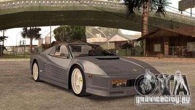 Ferarri Testarossa 1991 для GTA San Andreas