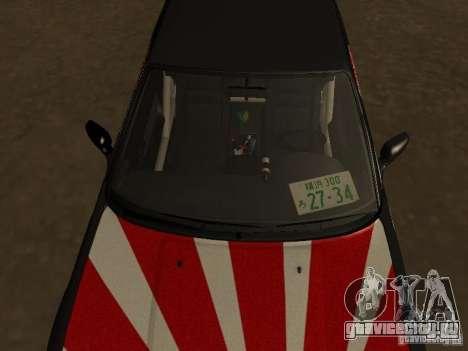 Nissan Silvia S13 JDM для GTA San Andreas вид сзади