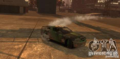Ford Mustang Monster Energy 2012 для GTA 4 вид изнутри