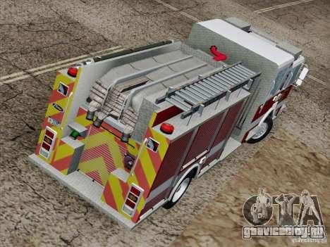 Pierce Pumpers. San Francisco Fire Departament для GTA San Andreas вид сбоку