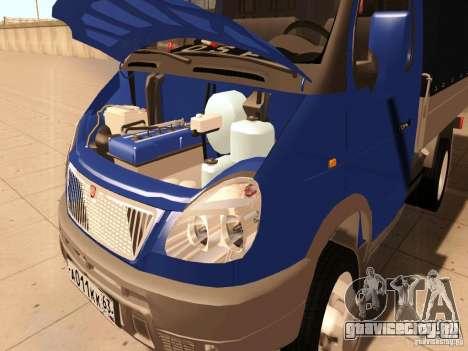 ГАЗель 3302 для GTA San Andreas вид изнутри