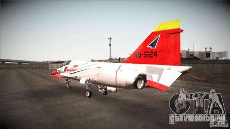 Mitsubishi T-2 для GTA San Andreas вид сзади слева