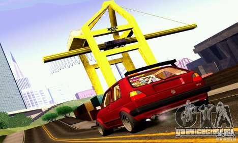 Volkswagen Golf MkII Racing для GTA San Andreas вид слева