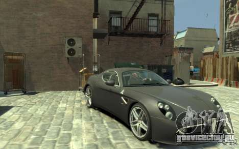 Alfa Romeo 8C Competizione v1 для GTA 4 вид сзади